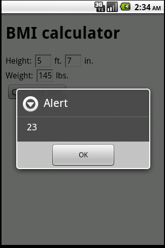 BMI Android Screenshot