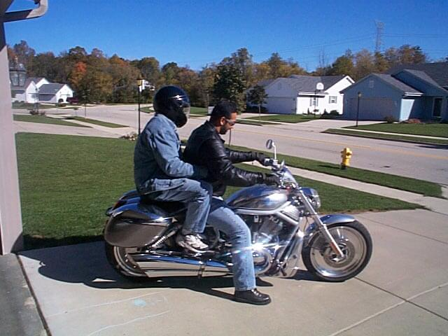 Me and Manu on Harley